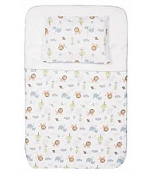 Set posteljnine za posteljico Chicco NEXT 2 ME Little Animals