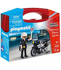 PLAYMOBIL SUITCASES policist na motorju 5648